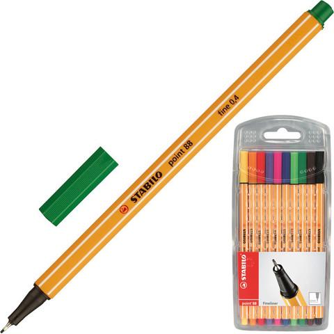 Набор линеров Stabilo Point 88 10 цветов (толщина линии 0.4 мм)