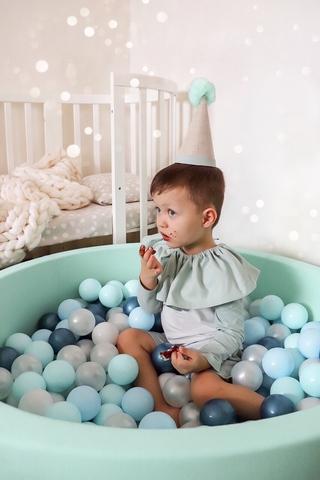 Сухой бассейн Anlipool 100/30см мятный комплект №73 Blue bubble