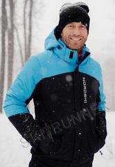 Премиальная теплая лыжная куртка Nordski Mount Blue-Black мужская