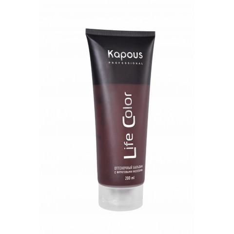 Бальзам оттеночный для волос Гранатовый красный,Kapous Life Color, 200 мл