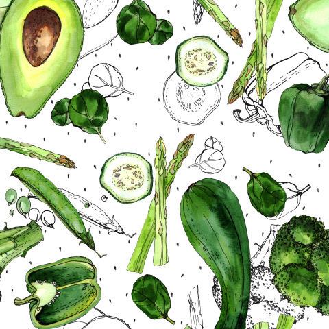 Овощи зеленые