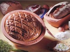 Форма керамическая для выпечки хлеба круглая Roemertopf