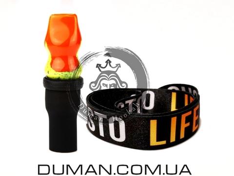 Персональный мундштук Gusto Bowls (Густо Болс) |Orange-Yellow Gusto Life
