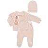 Комплект одежды для новорожденных (ползунки, кофточка, шапочка)