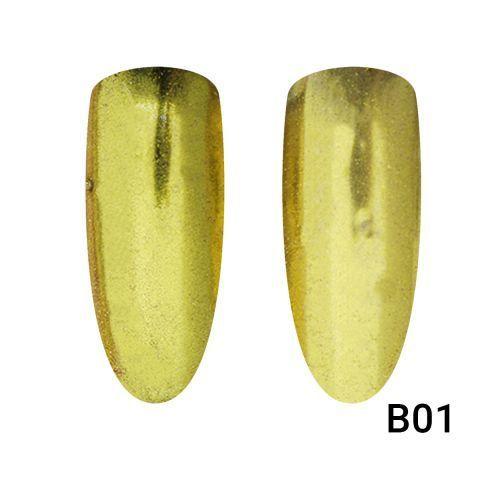 Зеркальная втирка для ногтей золото В01