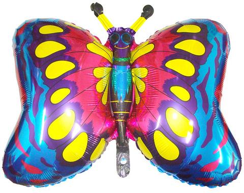 Фольгированный шар Бабочка синяя