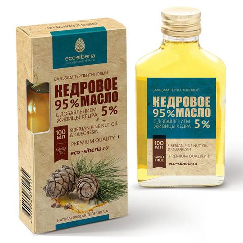 Кедровое масло с живицей кедра 5% ECO-SIBERIA, 100мл