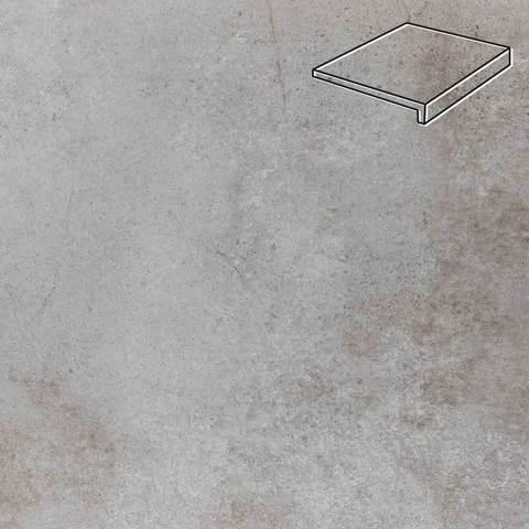 Stroeher - Keraplatte Aera Т 705 beton 294х340х35х11 артикул 9430 - Клинкерная ступень прямоугольная рядовая Loftstufe