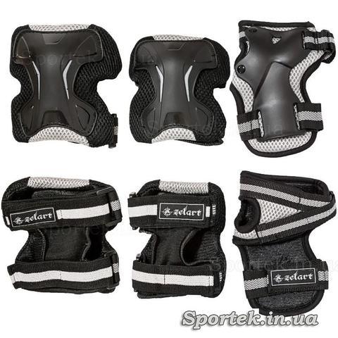 Захист для суглобів (чорно-сірого кольору) при катанні на роликах, скейтбордах