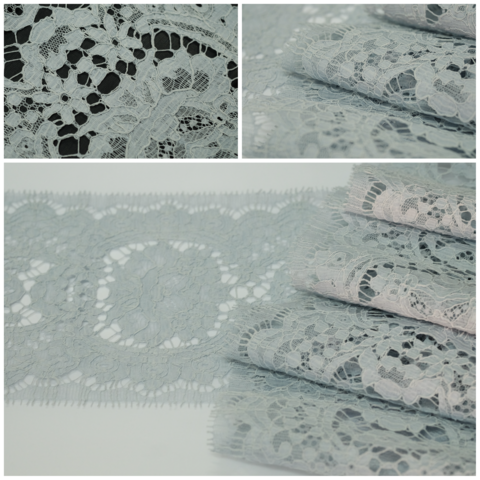 Кружево RM Chantilly Cotton Gris