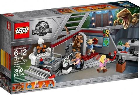 LEGO Jurassic World: Охота на Рапторов в Парке Юрского Периода 75932 — Jurassic Park Velociraptor Chase — Лего Мир Юрского периода