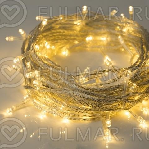 Гирлянда новогодняя Сияние, 8 режимов, 10 метров, свечение тёплое белое