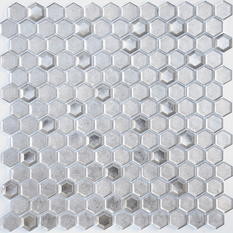 Мозаика Argento grani hexagon 13x23x6 300x300