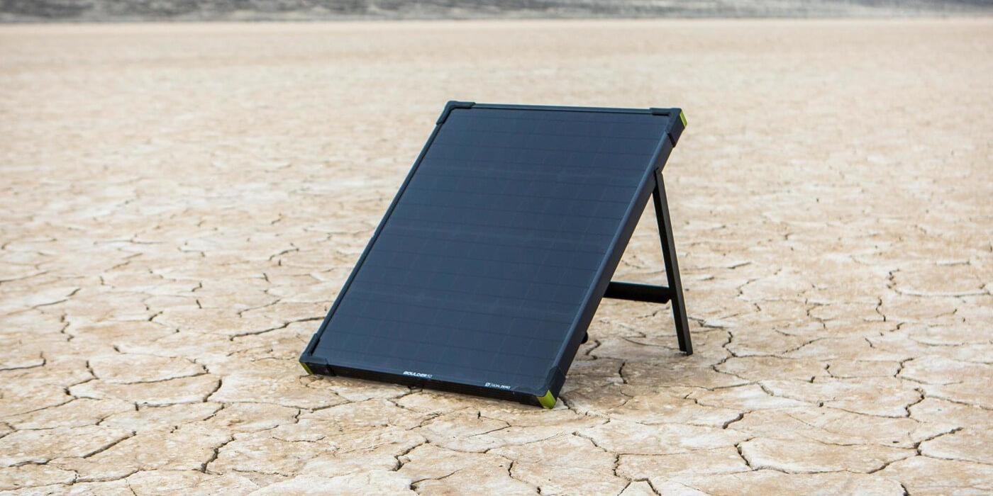 Солнечная панель Goal Zero Boulder 50 пример использования