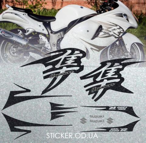 Набор виниловых наклеек на мотоцикл SUZUKI HAYABUSA, 2011