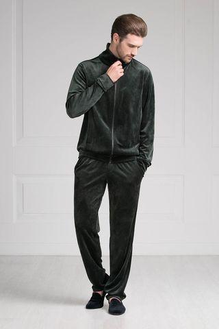 Мужской костюм 20288 тёмно-зелёный Laete