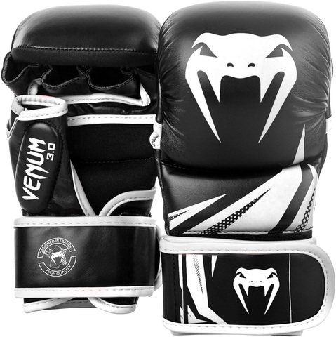 Перчатки для ММА Venum Challenger 3.0 Sparring Gloves Black/White