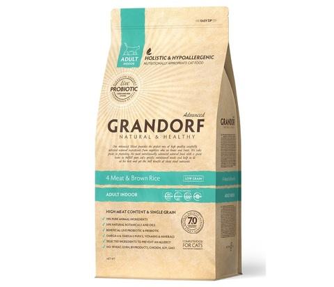 Grandorf Cat Indoor сухой корм для кошек (4 мяса с рисом и пробиотиками) 2кг