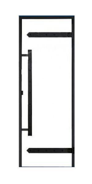 Дверь Harvia Legend STG 9×21 коробка сосна, стекло прозрачное, фото 1