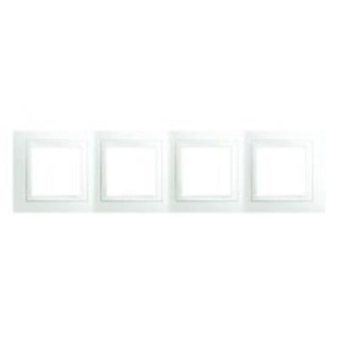 Рамка на 4 поста. Цвет Белый. Schneider electric Unica. MGU2.008.18
