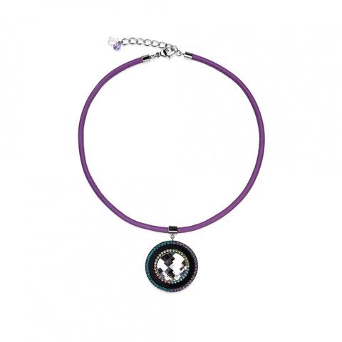 Колье Coeur de Lion 4588/30 цвет фиолетовый, чёрный