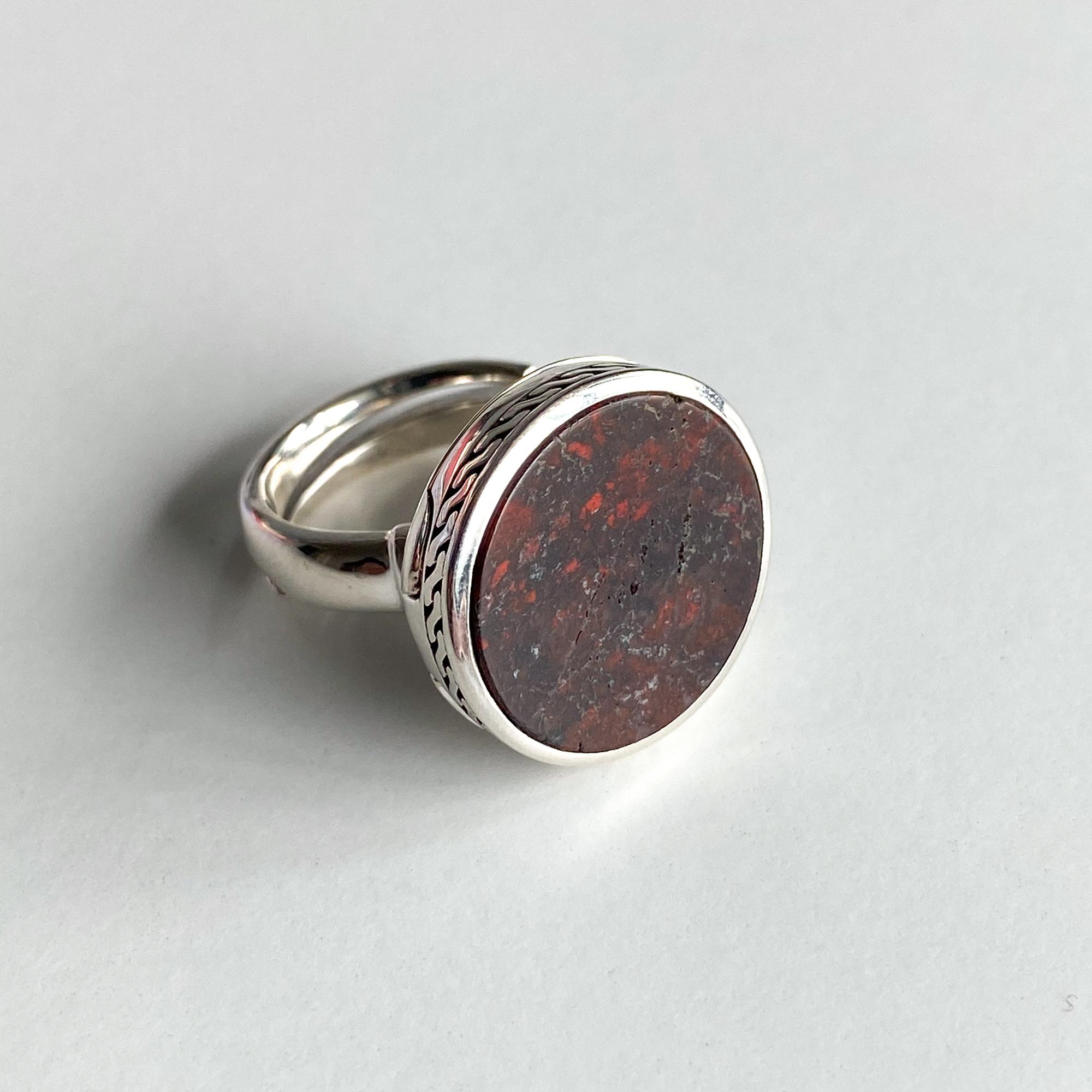 Кольцо с секретом DIONYSUS - Красная яшма