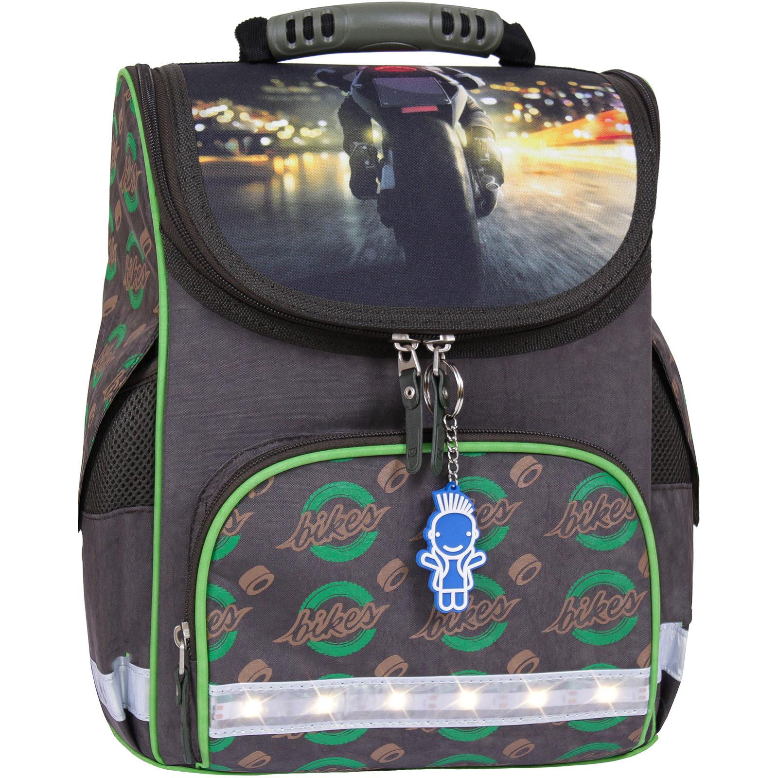 Школьные рюкзаки Рюкзак школьный каркасный с фонариками Bagland Успех 12 л. хаки 270к (00551703) IMG_7197__270К_.jpg