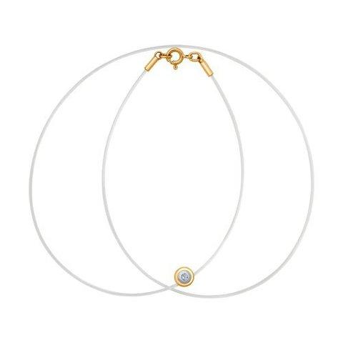 1070043 - Колье на леске из комбинированного золота с бриллиантом