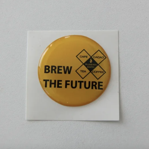 Наклейки BREW THE FUTURE (yellow)