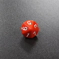 Оранжевый десятигранный кубик (d10) для ролевых и настольных игр