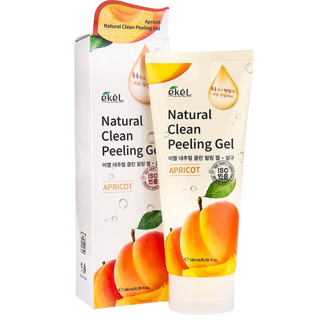Пилинг-скатка для лица с экстрактом абрикоса EKEL NATURAL CLEAN PEELING GEL APRICOT
