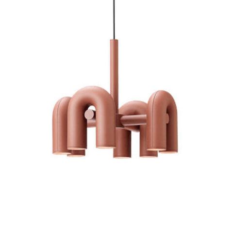 Подвесной светильник Cirkus by AGO Lighting (4 плафона/розовый)