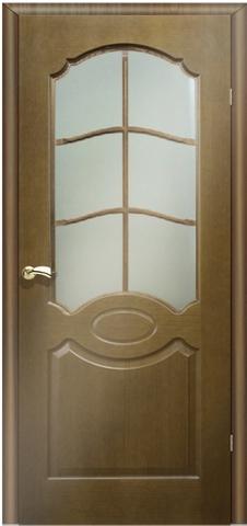 Дверь Кардинал (орех, остекленная шпонированная), фабрика Маркеев