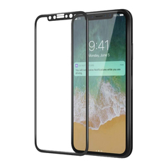Защитное 3D-стекло для iPhone X Black - Черное