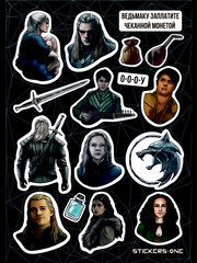 Набор стикеров Witcher Netflix
