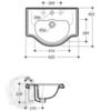 Раковина накладная классическая  Bella Migliore  62см ML.BLL-25.062.BI схема