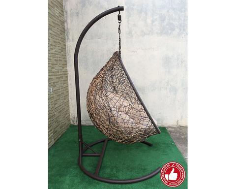 Кресло качели двухместные Сомбрерро бежево-коричневые
