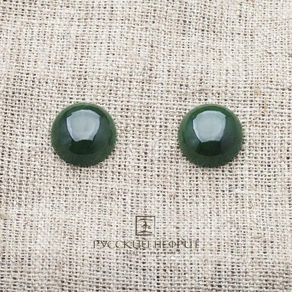 Вставки Кабошон круглый Д 15мм. Зелёный нефрит (класс моде). kabashon02.jpg