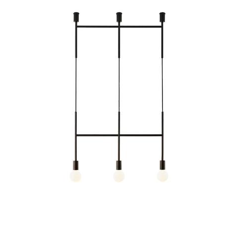 Потолочный светильник копия Triple Step by Volker Haug (черный)