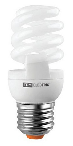 Лампа энергосберегающая КЛЛ-FSТ2-15 Вт-4000 К–Е27 (42х103 мм) TDM
