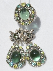 Анна (кольцо + серьги из серебра)