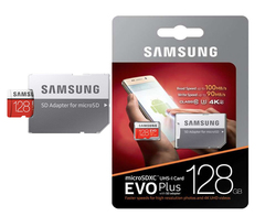 Флеш карта Micro 128GB Samsung Class 10 + адаптер