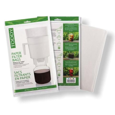 Toddy Paper Filter Bags - бумажные фильтр-мешки, 20 шт