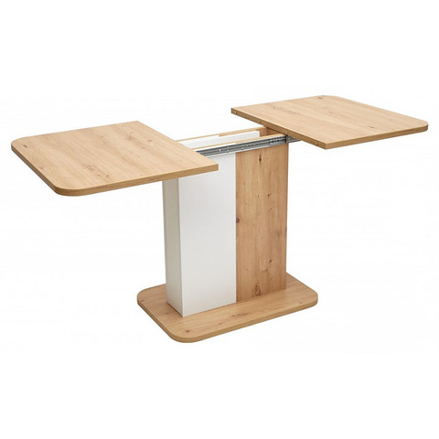 Стол NEXT Дуб Артисан/ Белый / 110(145)х69см