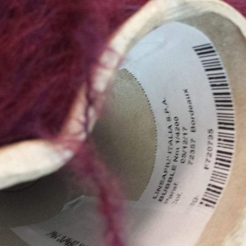 Бэби альпака с мериносом LINEAPIU / BUBBLE 420 вишневый меланж
