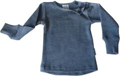 Кофта с длинным  рукавом ManyMonths, Серый меланж (шерсть мериноса 100%)