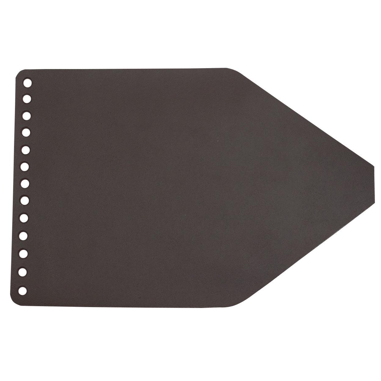 Кожаная фурнитура Клапан для рюкзачка кожаный Темно-коричневый 1,6 мм IMG_9327.jpg
