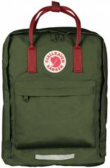 Рюкзак Fjallraven Kanken BIG Зеленый + Красный