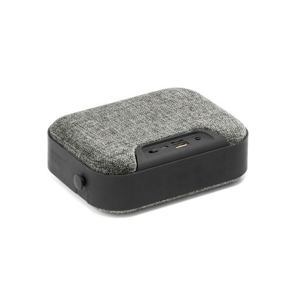 Square Bluetooth Speaker, grey with black