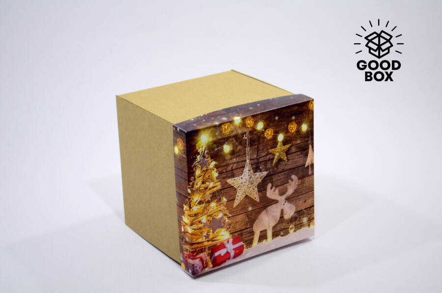 Новогодние коробки большие купить в Алматы